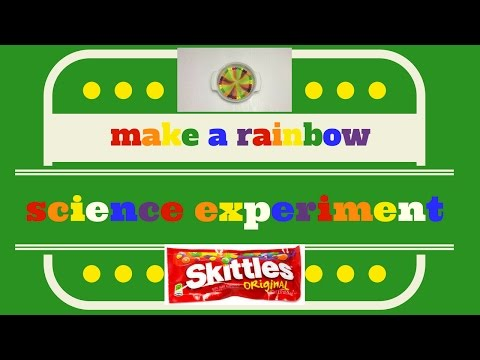 How to Make a Rainbow: Skittles Science Experiment