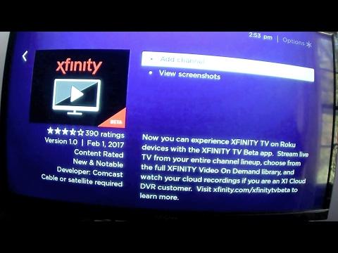 xfinity comcast x1 roku app