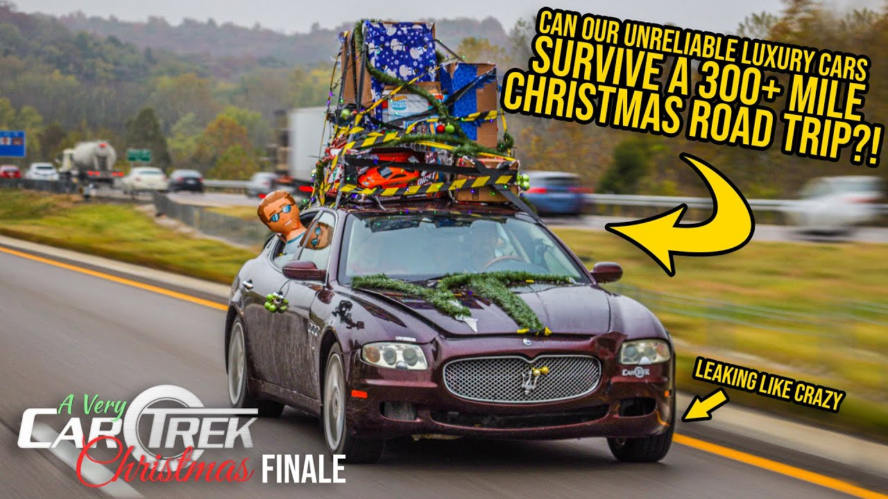We Took Our Unreliable Luxury Cars On A 300+ Mile Christmas Road Trip (And They All BROKE)