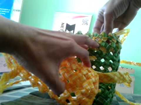 How to create pack bag plastic straw  E