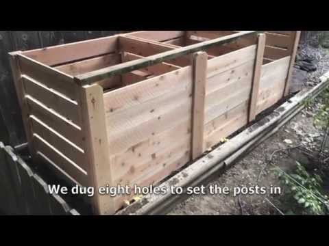 How to Build a 3-Bin Cedar Composter