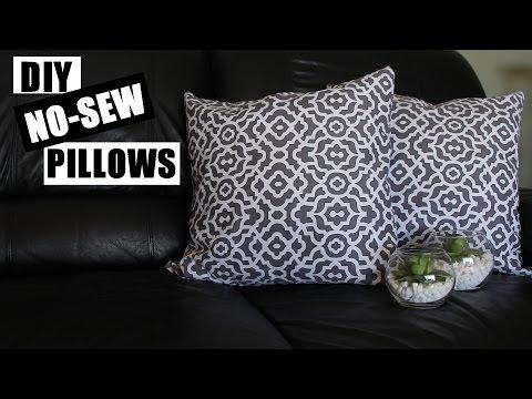 How To Make No Sew Pillows | DIY Home Decor No Sew Pillow Tutorial