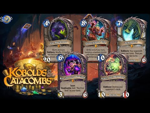 Hearthstone: All English Kobolds & Catacombs cards' dialogue