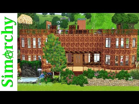 The Sims 3 House Tour - Beautiful Large Family Home with Rooftop Deck / Garden and Princess Bedroom