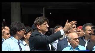 CM Sindh Murad Ali Shah Starts Fighting with Journalists during Media Talk | Dunya News