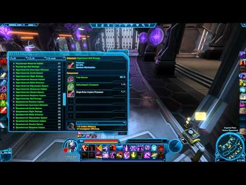 SWTOR: Biochem Leveling Guide and How I Make Dem Credits at LVL 50