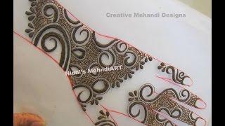 Simple Gulf Style Leaves Henna Mehndi Design Tutorial Daikhlo