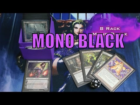 MTG - Modern Mono Black Control - 8 Rack Discard Deck With Liliana - Magic: The Gathering