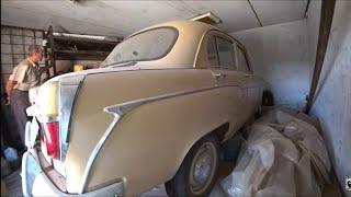 Нашли Дедовский МОСКВИЧ 407  1961 г.стоит 12 лет в гараже . в родной краске. в продаже на авито.