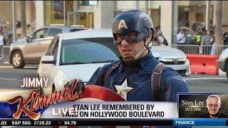 Hollywood Blvd Superheroes Mourn Stan Lee