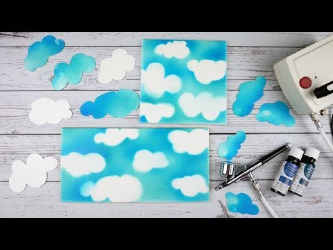 How To Use The PME Airbrush & Compressor Kit To Create A Cloudy Sky Effect