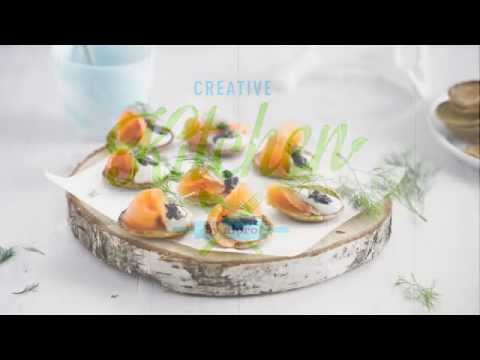 Alpro recipe – Blini with Salmon and Dill