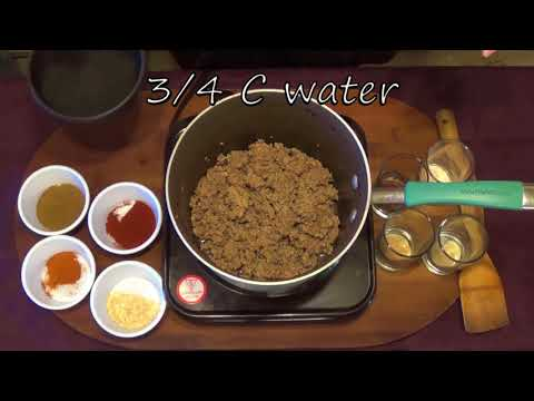 clone recipe for Taco Bell's ground beef.