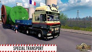 ETS2 1 30 - Special Transport DLC - Scania 143M - Košice to