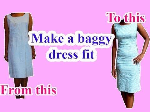 DIY clothes - How to make a dress fit tighter//Remakes