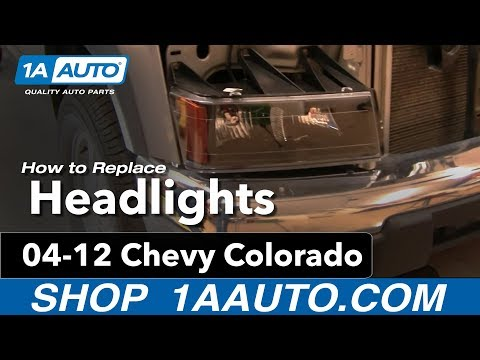 How To Install Replace Headlights and Bulbs Chevy Colorado 04-12 1AAuto.com