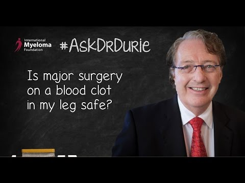 Is major surgery on a blood clot in my leg safe?