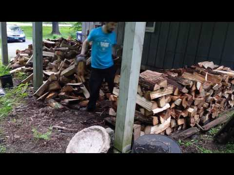 2017 Woodstacking Time Lapse (2 cords)
