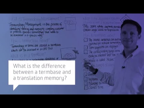 What is the difference between a termbase and a translation memory?