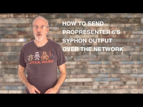 How to send a ProPresenter syphon output over the network