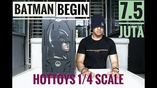 Download UNBOXING HOT TOYS 1/4 SCALE BATMAN BEGINS CHRISTIAN BALE!!! THE BEST BATMAN FOREVER!!! Video