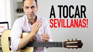COMO TOCAR SEVILLANAS FÁCIL COMPLETAS Y RASGUEOS(Jerónimo de Carmen TUTORIAL) Guitarraflamenca