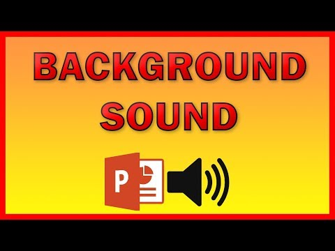 How to add a background music to a PowerPoint presentation