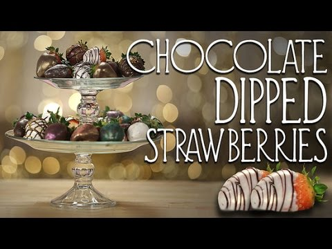 How to Make Metallic Chocolate-Covered Strawberries