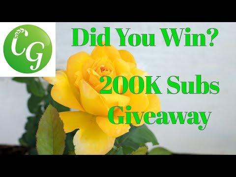 Did You Win? California Gardening 200K Subscribers Milestone Giveaway!!