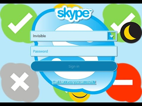 How to change skype status (invisible) before log in. How to login invisible in to skype