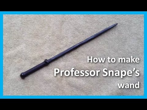 How to make Professor Snape's wand from Harry Potter movies