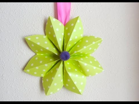 How to Fold a Origami Paper Flower  Decoration For a Party or Decor Tutorial