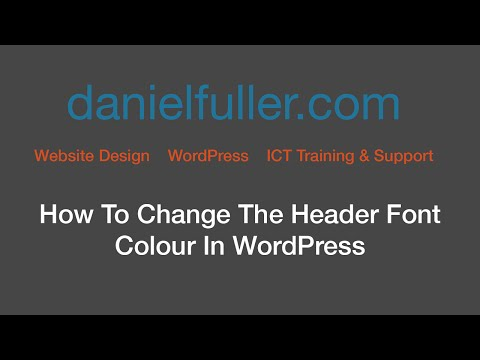 How to Change The Header Font Colour in WordPress