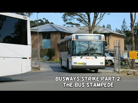 Sydney Bus Vlog 33: Busways Strike Part 2 - The Bus Stampede