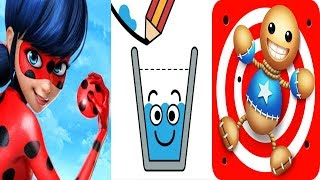 Download Miraculous VS Happy Glass VS Kick The Buddy Android Gameplay Video