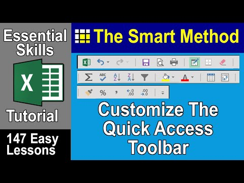 Excel Tutorial: Customize the Quick Access Toolbar | ExcelCentral.com
