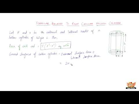 Formulae related to right circular hollow cylinder
