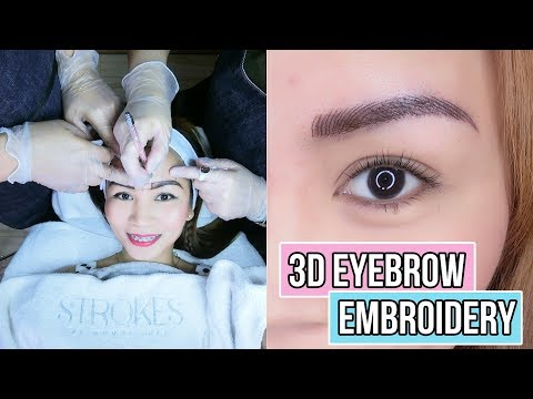 3D TATTOO EYEBROW EMBROIDERY at STROKES (Vlog + Before and After!)