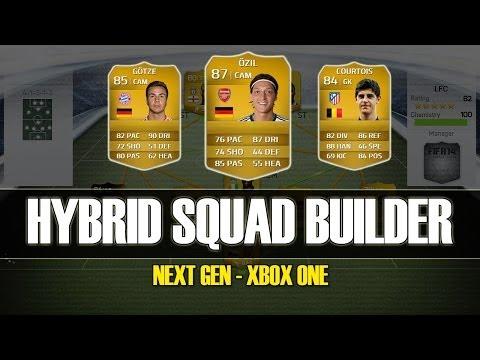 FIFA 14 - INSANE 100K HYBRID SQUAD BUILDER - with Ozil and Gotze!