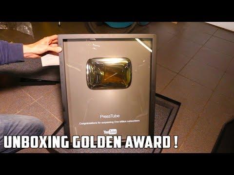 Golden Playbutton Unboxing
