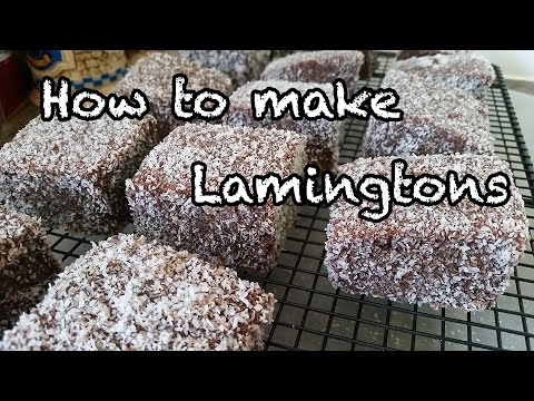 How to make lamingtons!