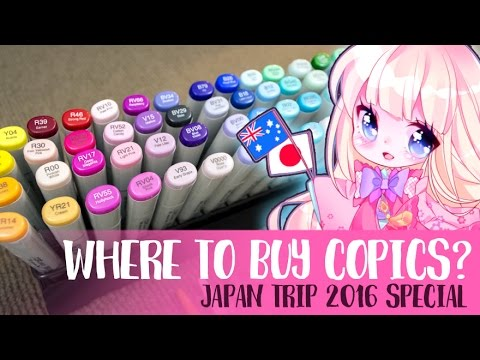 Where to buy Copic markers? [ 2016 Japan trip vlog Special ]