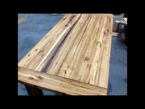 Antique Reclaimed Wood Kitchen Table Vancouver