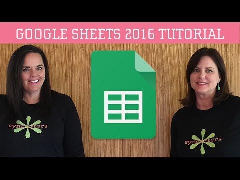 Google Sheets 2016 Tutorial