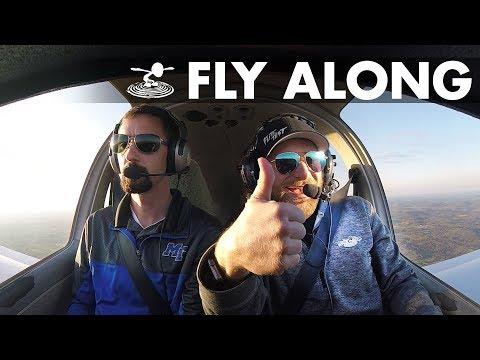 Pilot Program Fly-Along   Stefan Pilots a Diamond DA-40! - MTSU