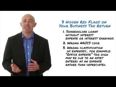 Business Tax Return - 3 hidden red flags