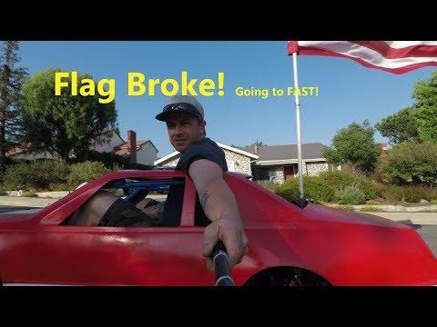 GoPro hero 5 black mini car go kart body flag broke