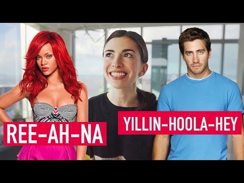 HOW TO PRONOUNCE CELEBRITY NAMES IN ENGLISH