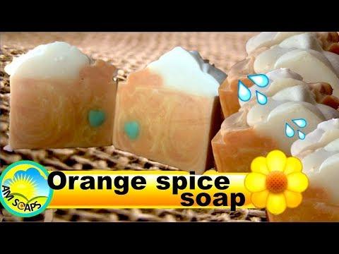 Orange spice cold process soap