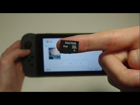 Nintendo Switch How to Insert Micro SD Card